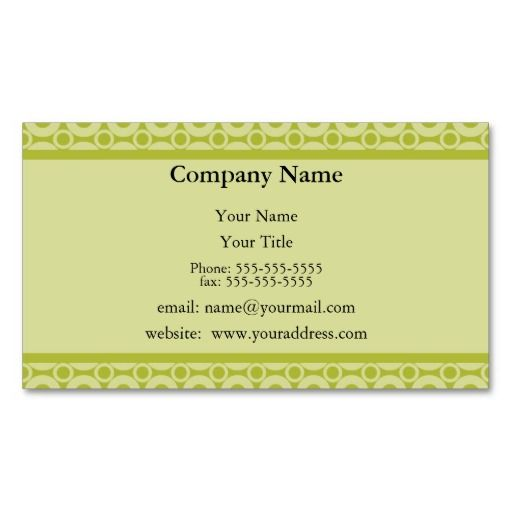 Green Appointment Reminder Card Business Card Templates - sample appointment card template