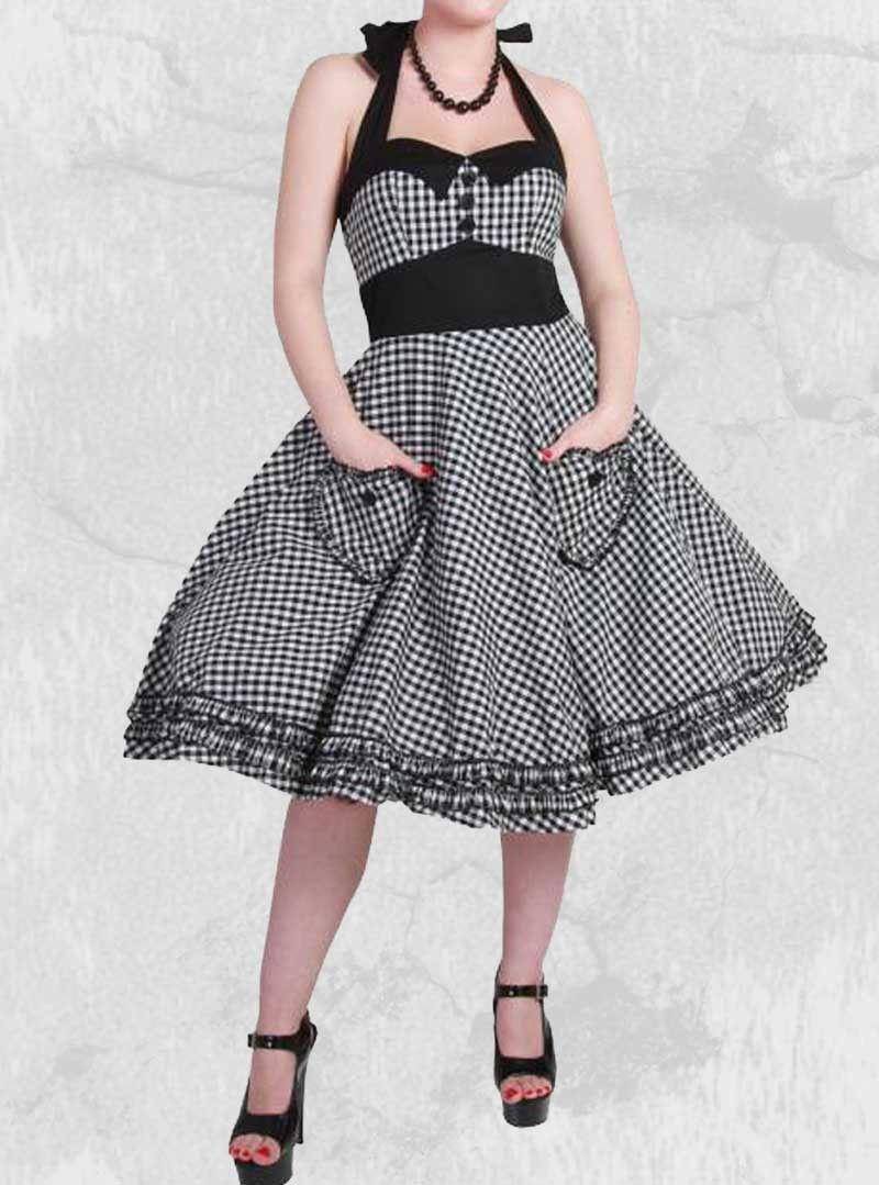 Vintage Année 50 en ce qui concerne robe rockabilly vintage années 50' hell bunny | robe annee 50