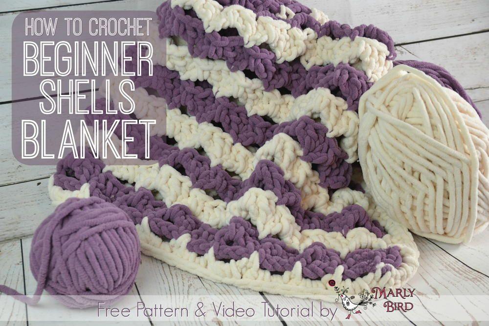 Beginner Shells Crochet Blanket | Crochet | Pinterest
