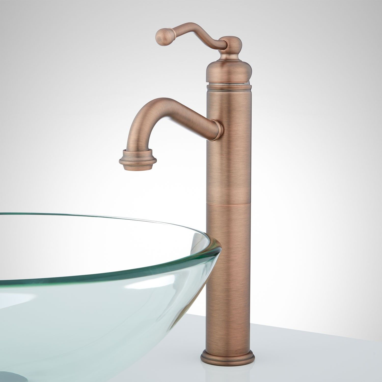 Leta Single Hole Vessel Faucet With Pop Up Drain