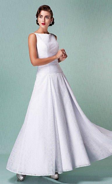 015c6529b1c2 Simple Elegant Wedding Dress | Mature Beauty Bride | Ankle length ...
