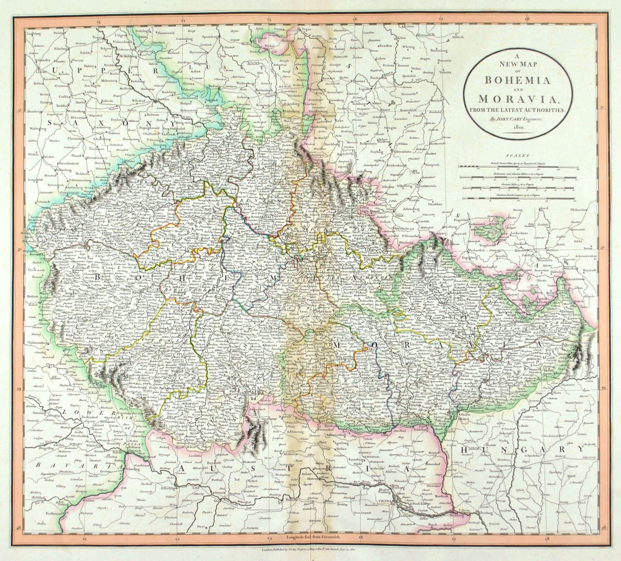 A New Map Of Bohemia And Moravia
