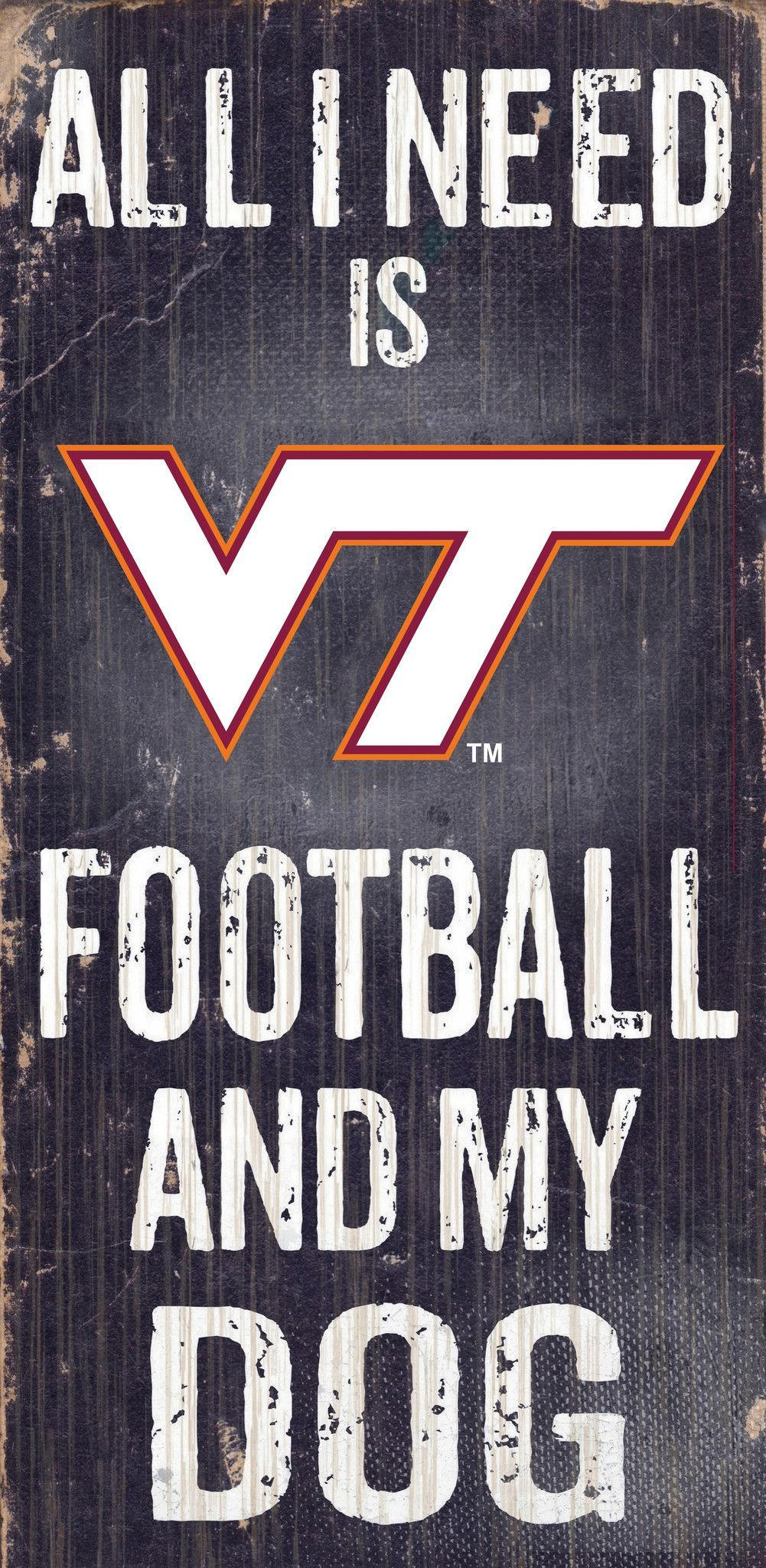 ficially Licensed Virginia Tech Football and Dog Sign