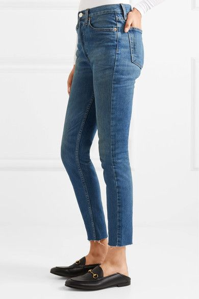 Cheap Find Great Re/Done frayed high waisted skinny jeans Big Sale s8GIpw6