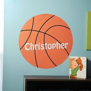 Basketball Wall Decal from Baby Gifts and Gift Baskets #babyshower
