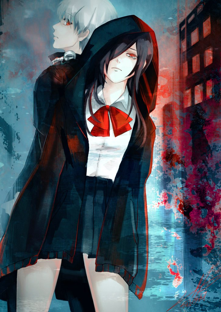 Kaneki Ken and Touka Kirishima Tokyo Ghoul Kinda ship