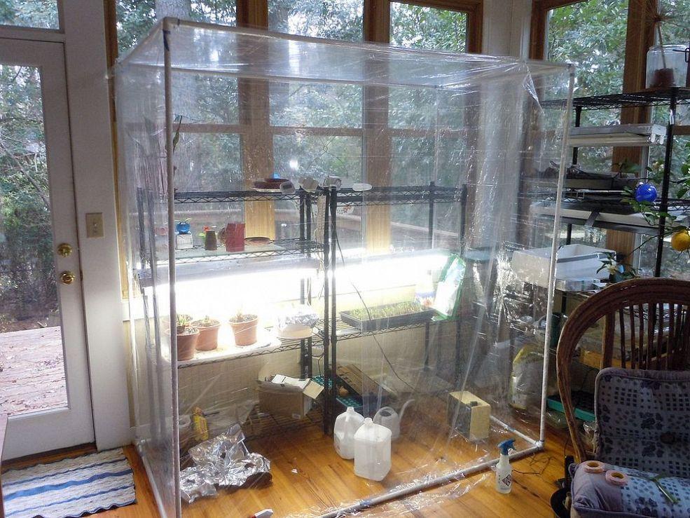 Building An Indoor Greenhouse Indoor Greenhouse Home Greenhouse