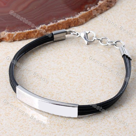 PU Leather Polish Stainless Steel Adjustable Bracelet Bangle Cool Men's Jewelry   http://www.ebay.com/itm/PU-Leather-Polish-Stainless-Steel-Adjustable-Bracelet-Bangle-Cool-Mens-Jewelry-/381180399147?pt=LH_DefaultDomain_0&hash=item58c01f4e2b