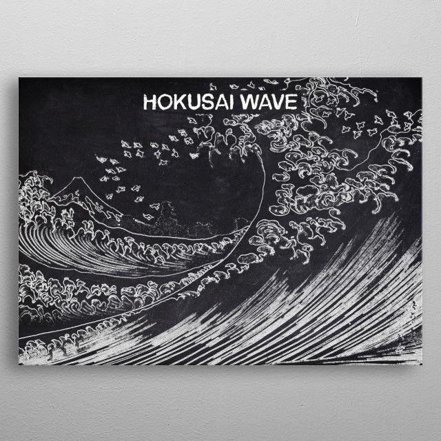 HOKUSAI WAVE by FARKI15 DESIGN | metal posters - Displate | Displate thumbnail