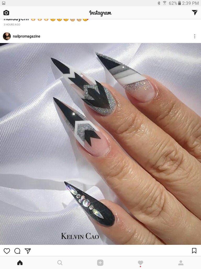 Pin by Natalie Kokinda on LONG NAIL ART | Pinterest | Long nail art ...