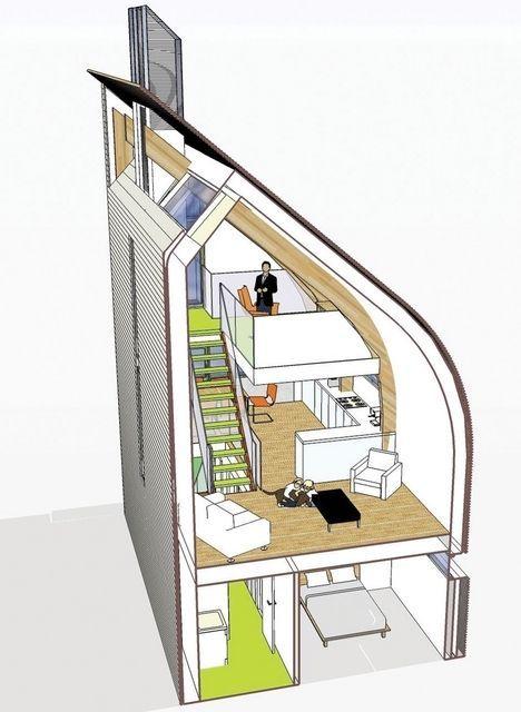 Lighthouse Zero Energy House Cutaway Illustration2 | bird design ...