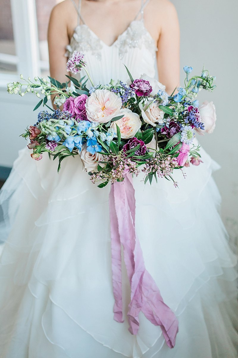 Lavender Blush And Blue Wedding Bridal Bouquet Omaha Nebraska