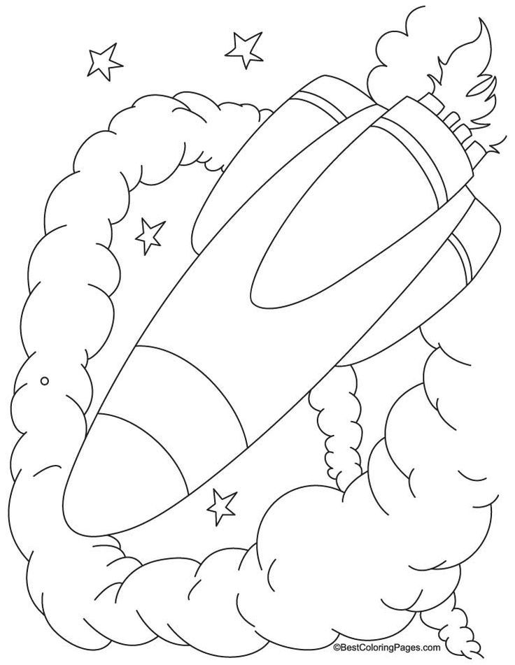 Spacecraft #coloring pages | Kids: Coloring Pages 填色 | Pinterest