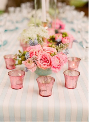 Flower Table Setting Baby Pink Decoration Mariage Deco Fleur