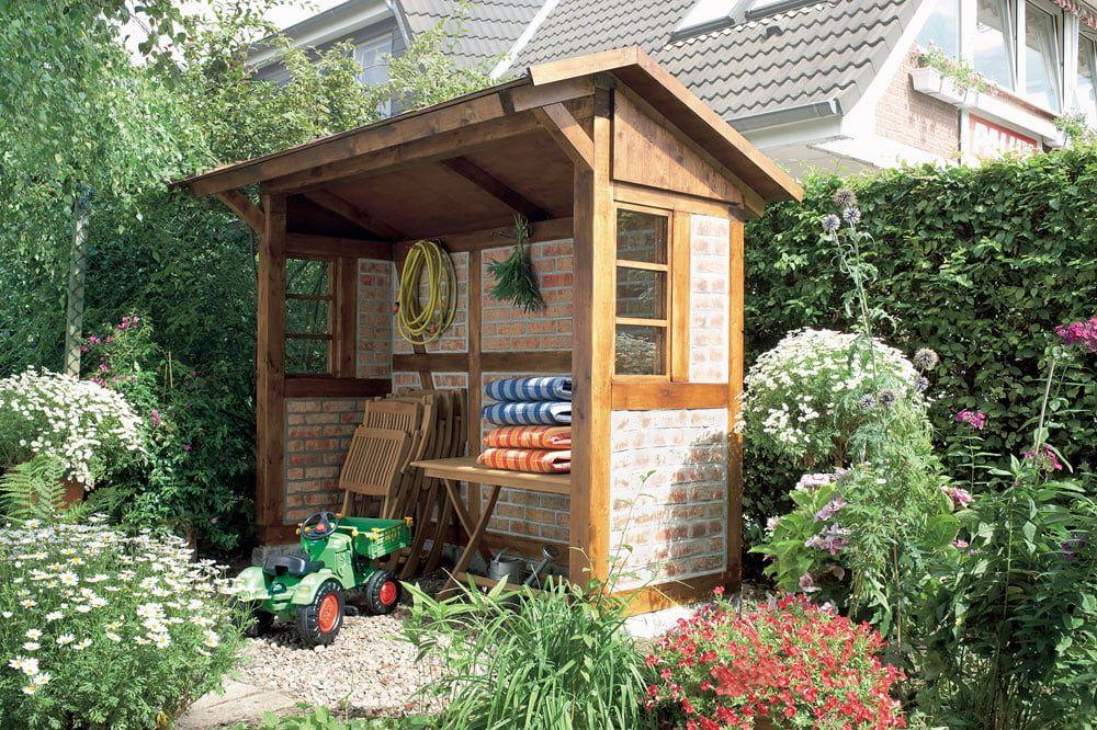 FachwerkUnterstand selber bauen in 2020 Gartenhaus