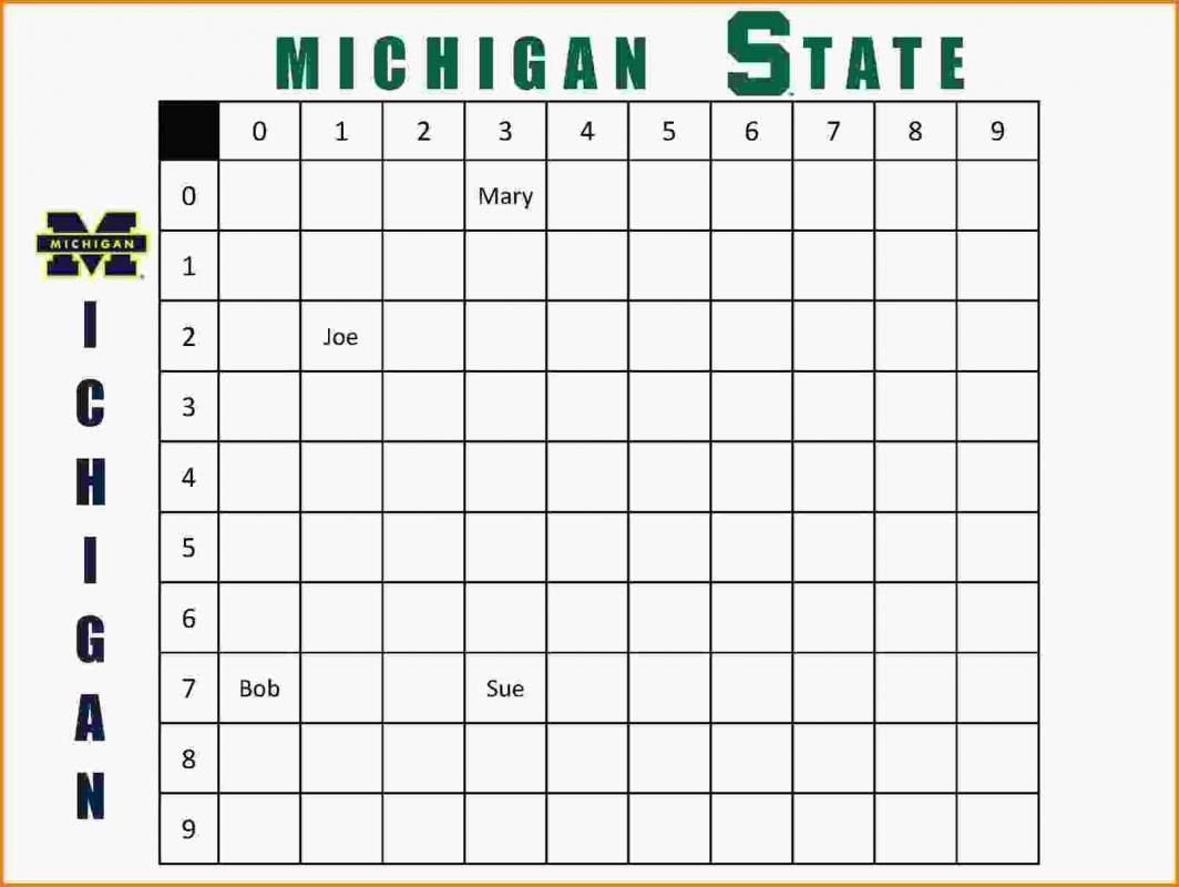 Football Squares Template Excel Football Squares Template Excel Templates Business Football Squares