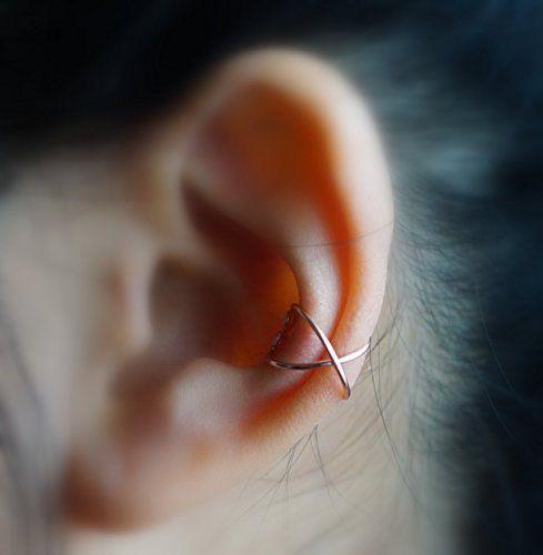 113) Criss Cross Ear Cuff - Rose Gold