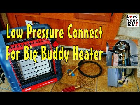 Mr Heater Big Buddy Hooked To My Rvs Lp Gas Line With Images Rvs Buddy Camper Repair