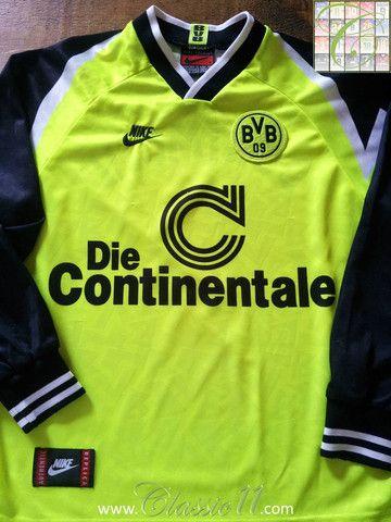 sale retailer 9a004 306ae 1995/96 Borussia Dortmund Home Football Shirt (XL)   Classic ...