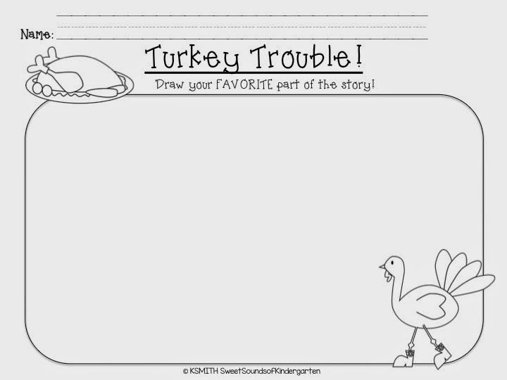Sweet Sounds Of Kindergarten Fall Favorites Blog Hop Thanksgiving Lessons Writing Activities Turkey Trouble Activities