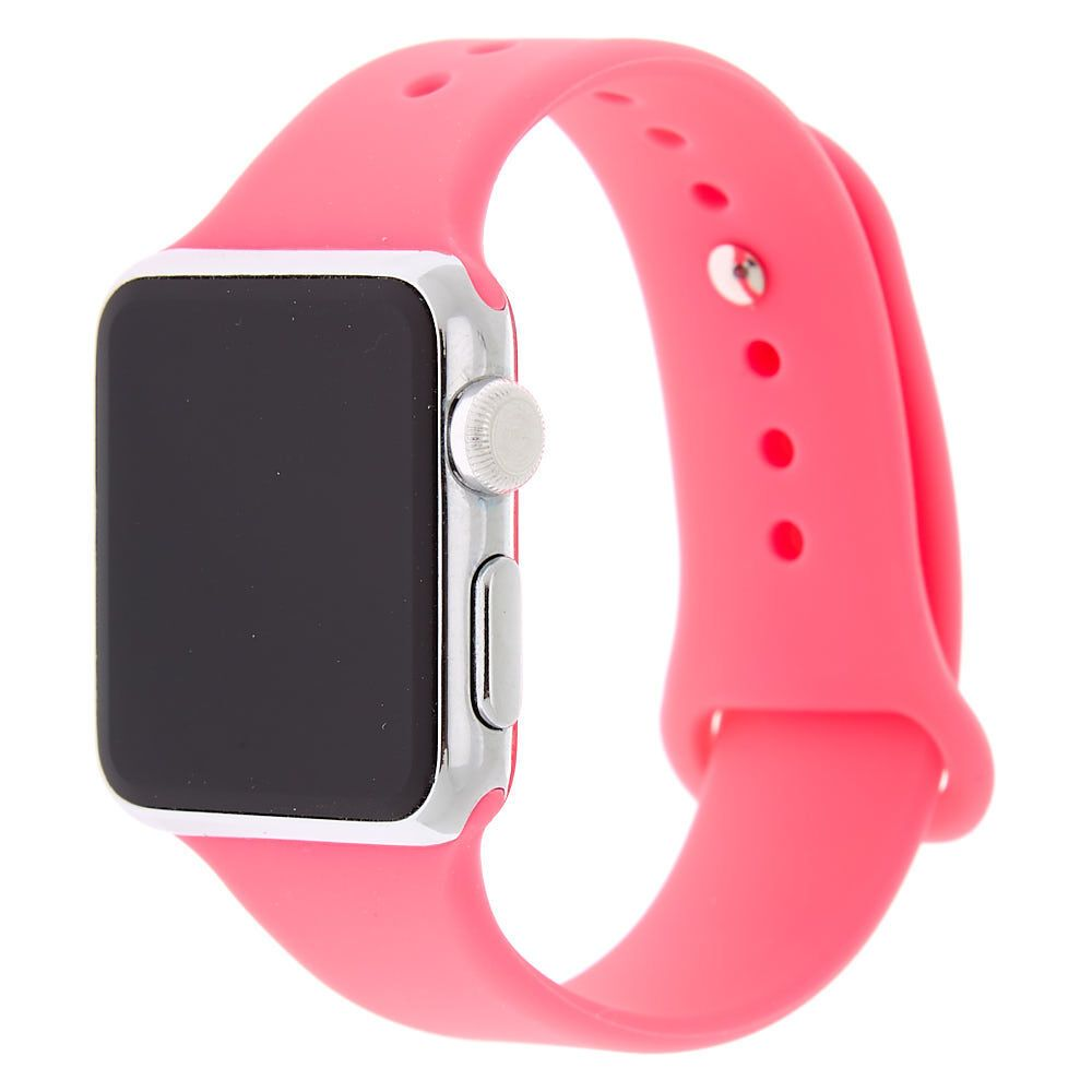 Hot Pink Smart Watch Band Fits 38mm 40mm Apple Watch Apple Watch Watch Bands Apple Watch Bands
