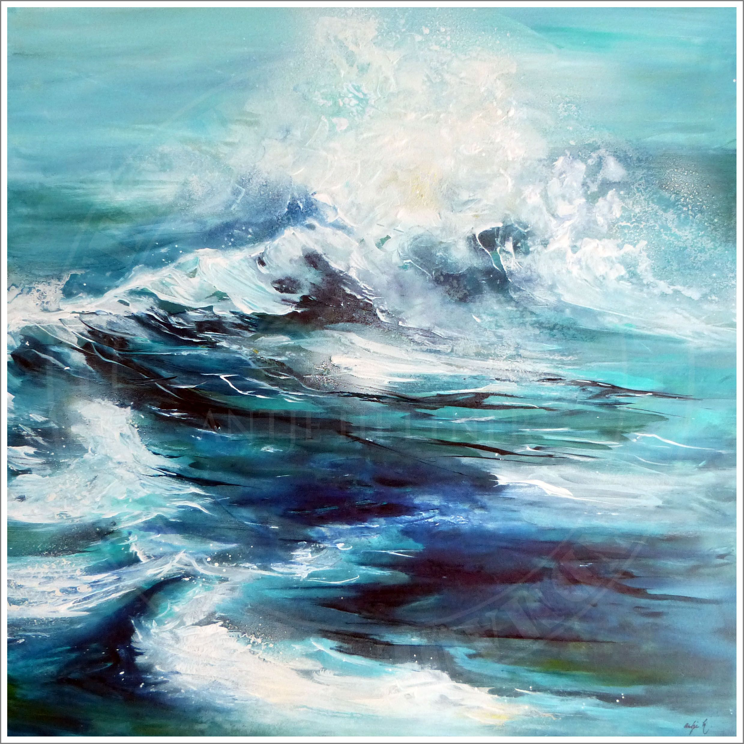 Pin Von Kay Auf Abstract Paintings Aquarelle Landschaften Meer