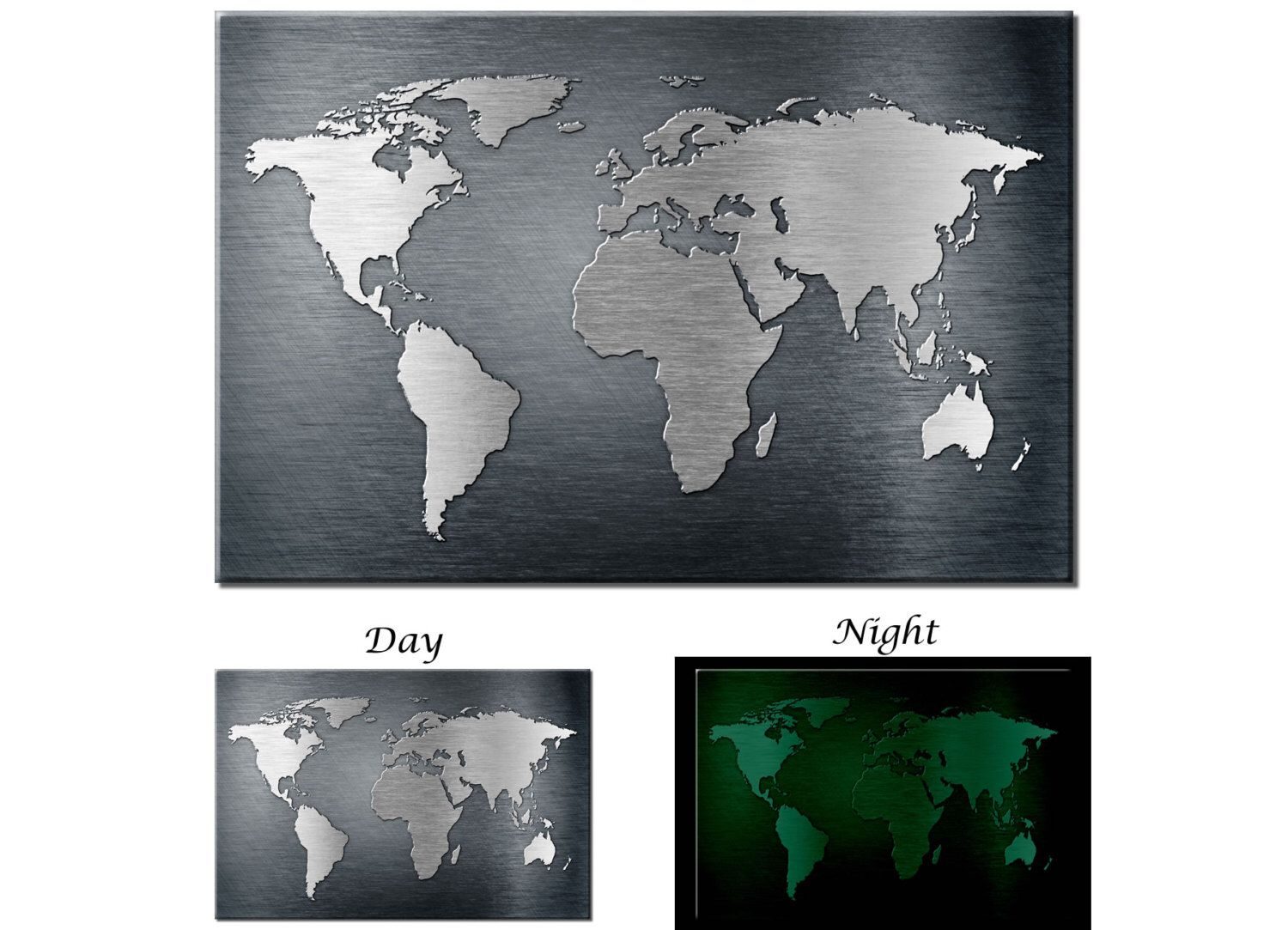 Glow in the dark canvas wall art metal texture world map canvs art glow in the dark canvas wall art metal texture world map canvs art ready to hang gumiabroncs Images