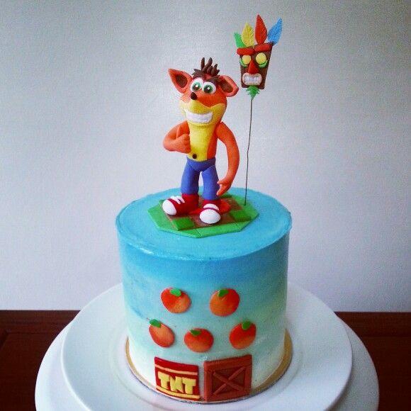 Crash Bandicoot Birthday Cake Crash Fondant Topper With