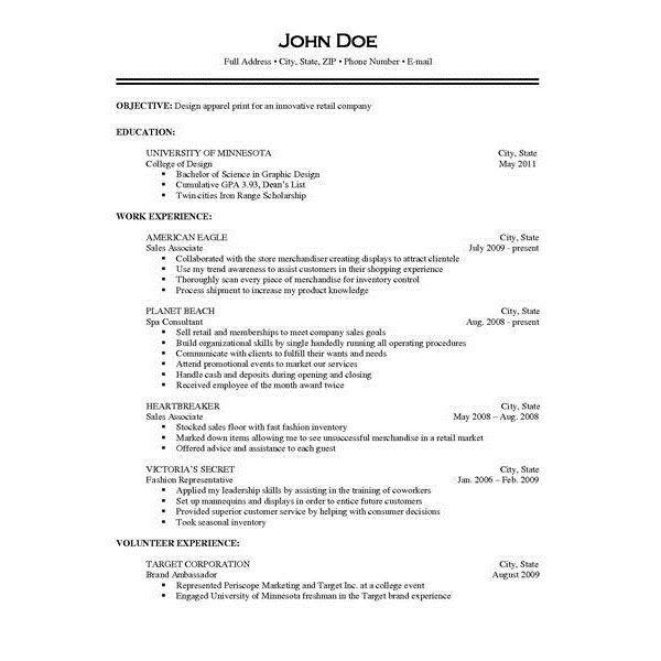 Resume Examples Responsibilities Resume Examples by Resume - resume examples for retail
