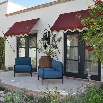 love the bordered scalloped edge on the awnings