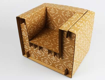 lasergeschnittene und gravierte m bel aus karton oder papier papier erzeugnisse lassen sich. Black Bedroom Furniture Sets. Home Design Ideas
