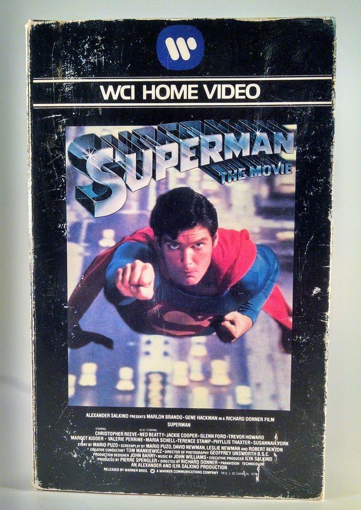 SUPERMAN the MOVIE 1978 WCI Home Video VHS Brando, Hackman, Reeve PG