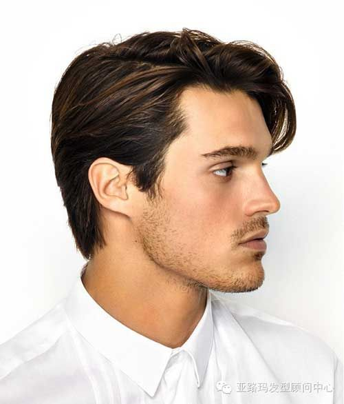 Straight Side Parted Dark Brown Hair Hairstyles For Boys Medium