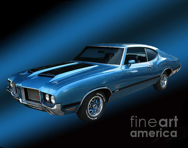 1972 Olds 442 Greeting Card for Sale by Peter Piatt