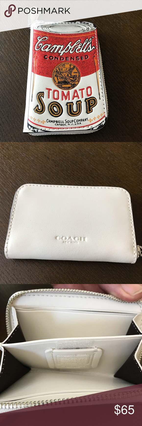 Coach Campbell S Soup Coin Purse Cardholder Nwt Nwt Coin Purse Purses Key Card Holder
