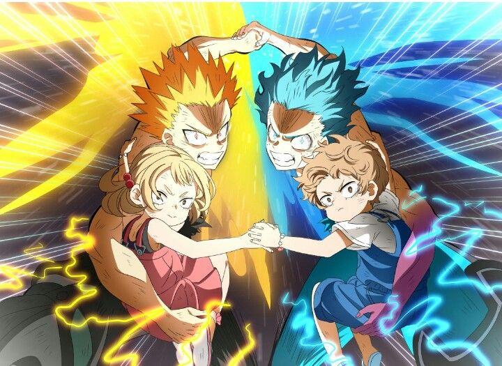 Katsuki Izuku Combine Force With Mahoro And Katsuma Heroes Rising My Hero My Hero Academia Episodes Hero