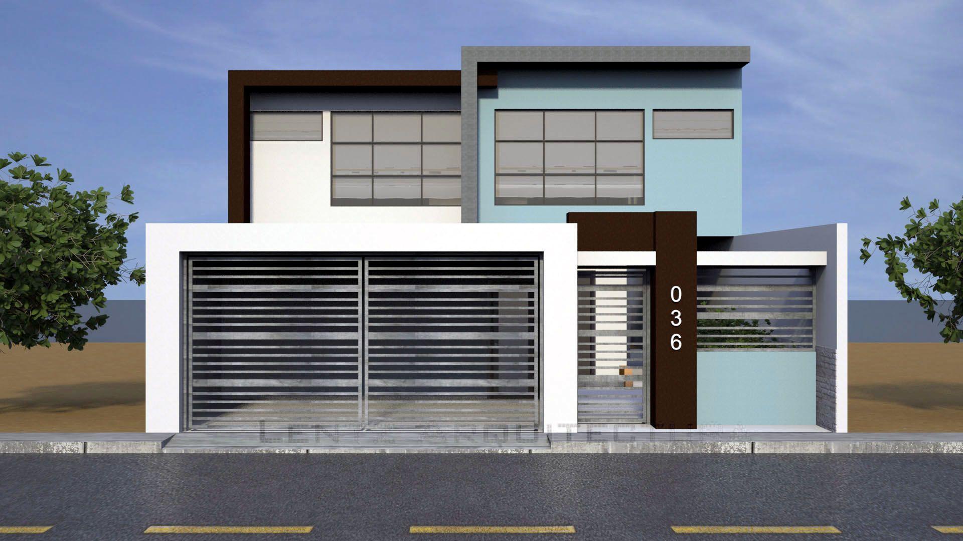 Vaca rivas residence main facade lentz architecture in - Pisos minimalistas modernos ...