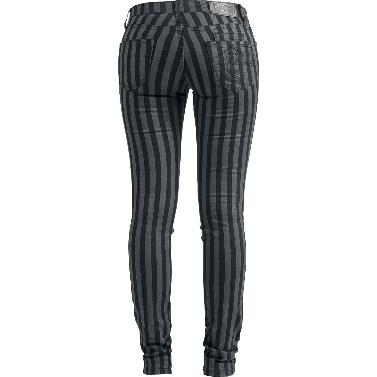 Stripes - Girls trousers by EMP Rock Rebel - Article Number: 252453 - from 39.99 € - EMP Merchandising ::: The Heavy Metal Mailorder ::: Mer...