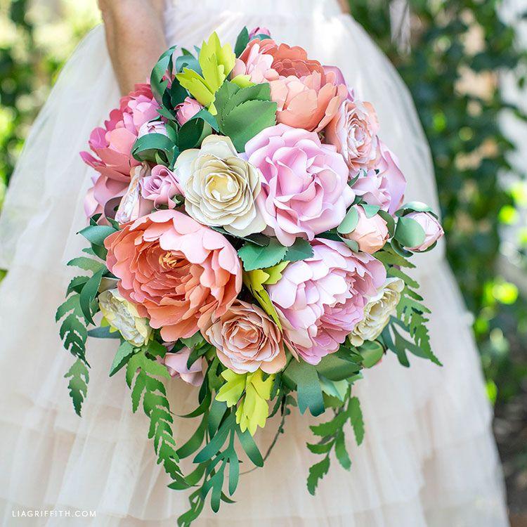 Video Tutorial: Arrange a Paper Flower Vintage Bridal Bouquet