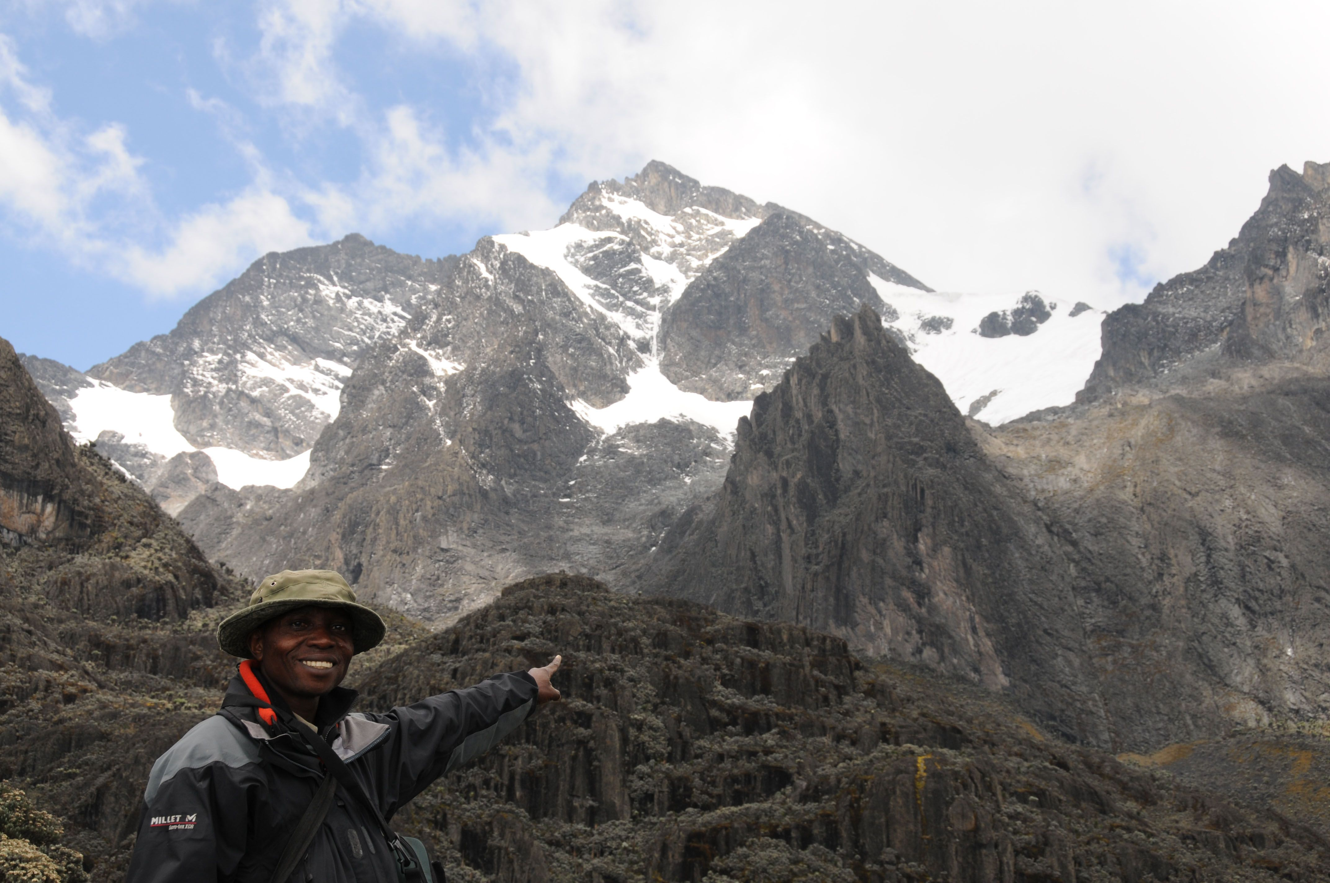 The Rwenzori Mountains In Virunga National Park, The Eastern Democratic