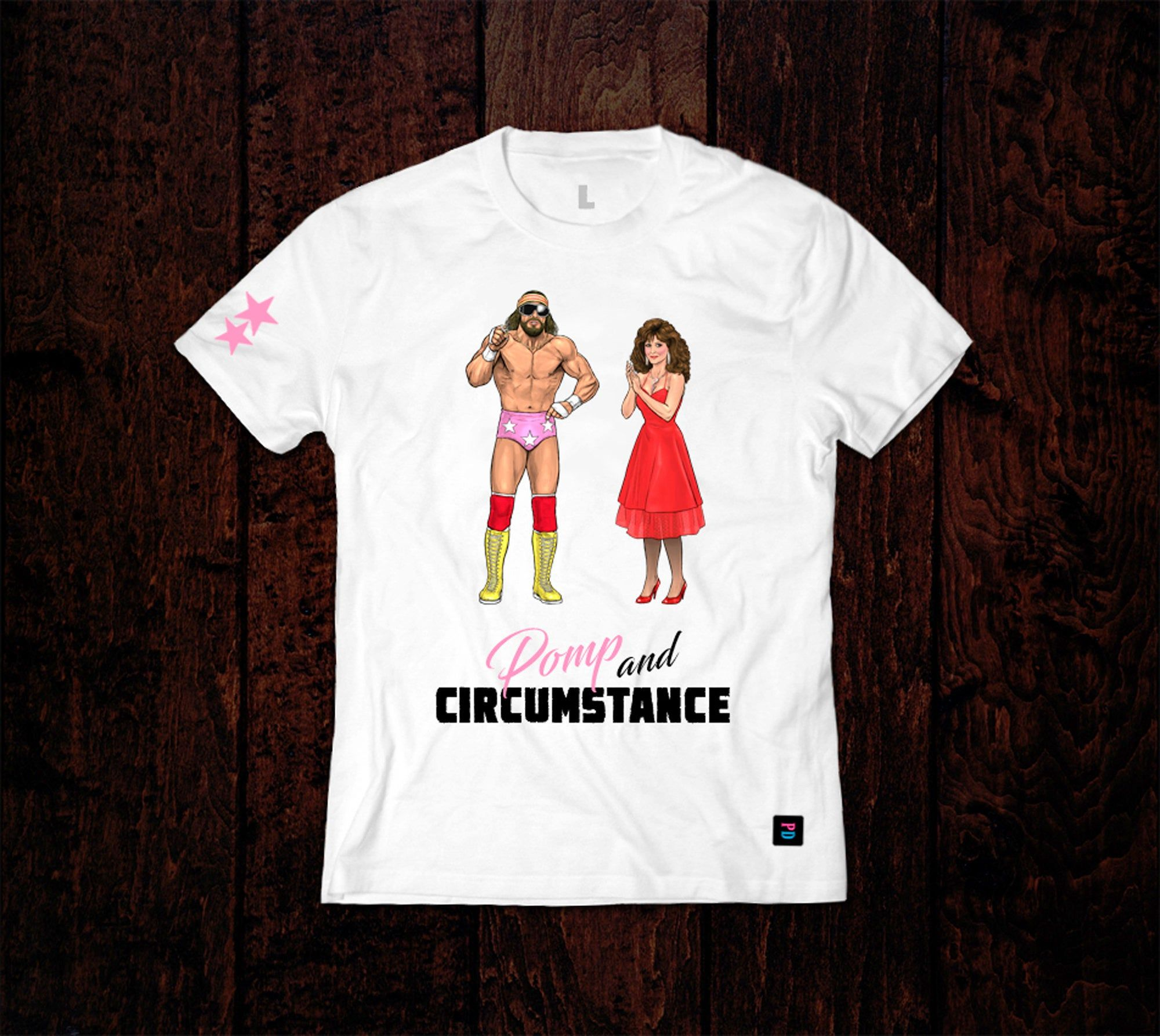 Pro Wrestling Inspired Character Tees The Madness Macho Man Randy Savage Miss Elizabeth In 2020 Pro Wrestling Macho Man Randy Savage Lightweight Tees