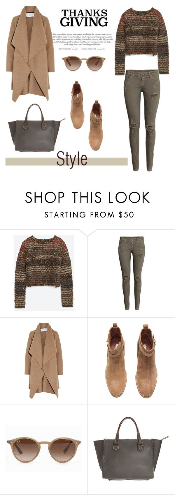 """""""Thanksgiving Dinner"""" by vbasianioti ❤ liked on Polyvore featuring Zara, Harris Wharf London, H&M, Ray-Ban, Moreau and thanksgiving"""