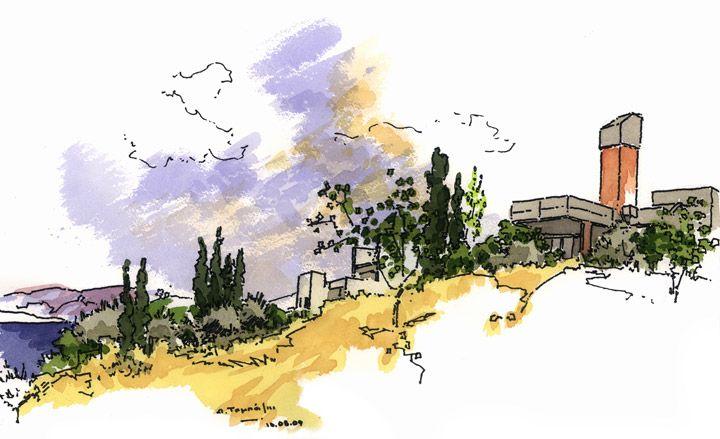 Sketches By Greek Architect Alexandros Tombazis