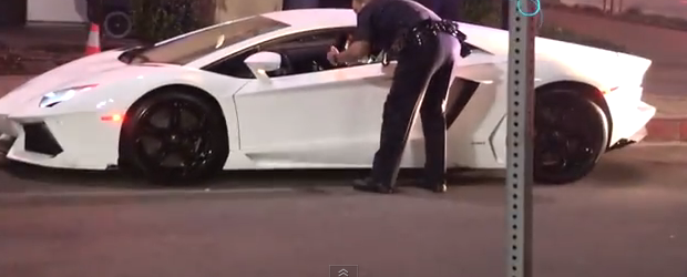 Caught On Video Lapd Detains Tyga And Tows His Lamborghini Away