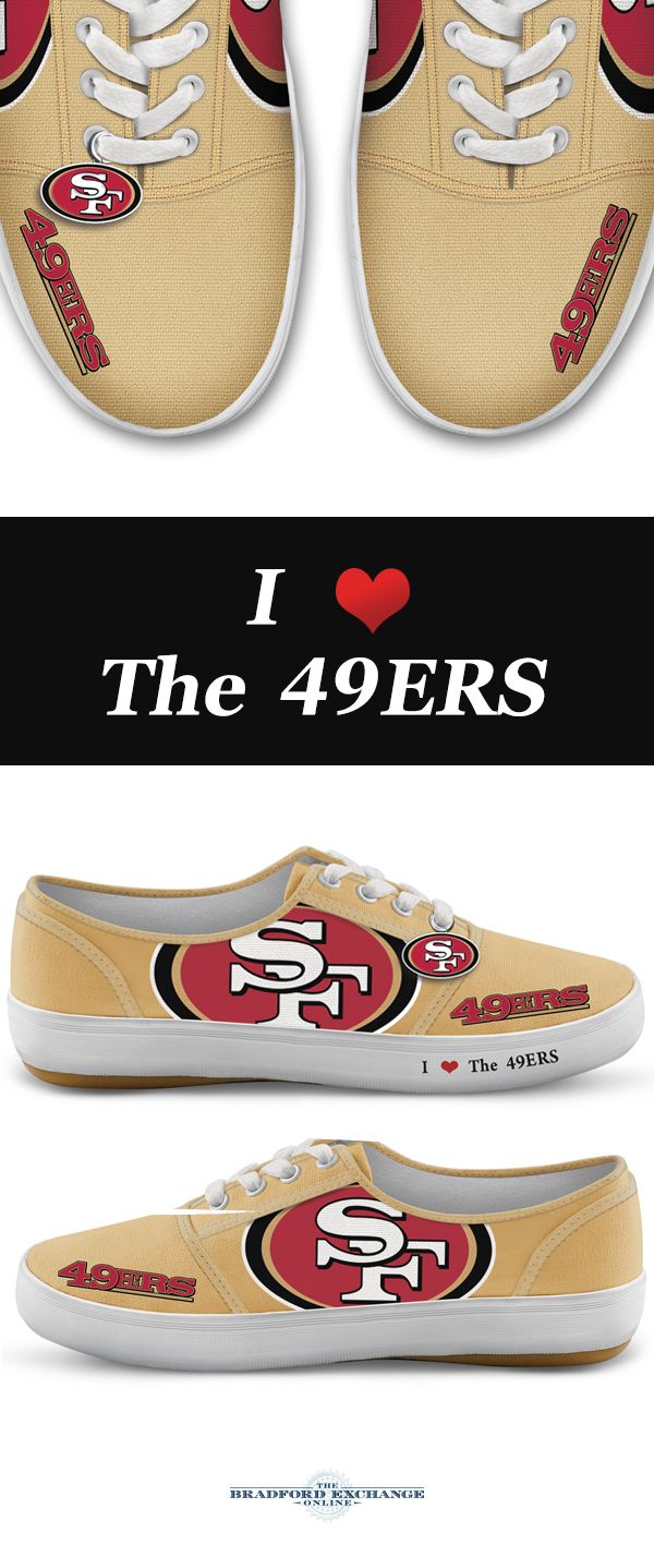 7e199513dad NFL-Licensed San Francisco 49ers Women s Canvas Sneakers