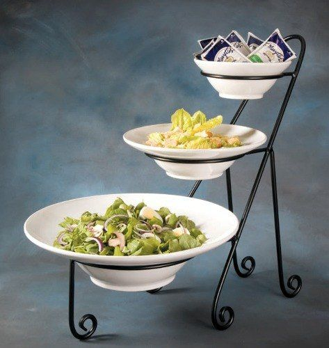 Three Tier Ironwork Stand For Round Bowls American Metalcraft IS15