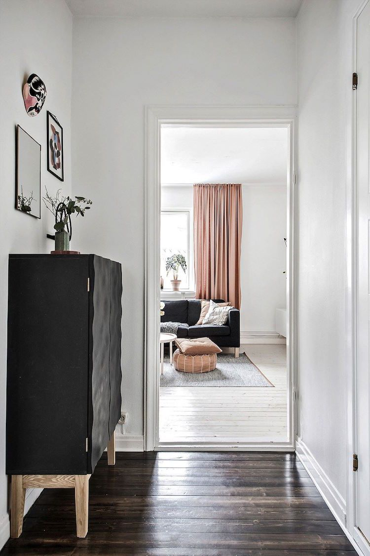 Blush / Brown Accents in a Lovely Swedish Home