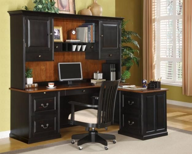 Exceptionnel Pictures Of Home Office Furnitue Secretary Desk Hutch
