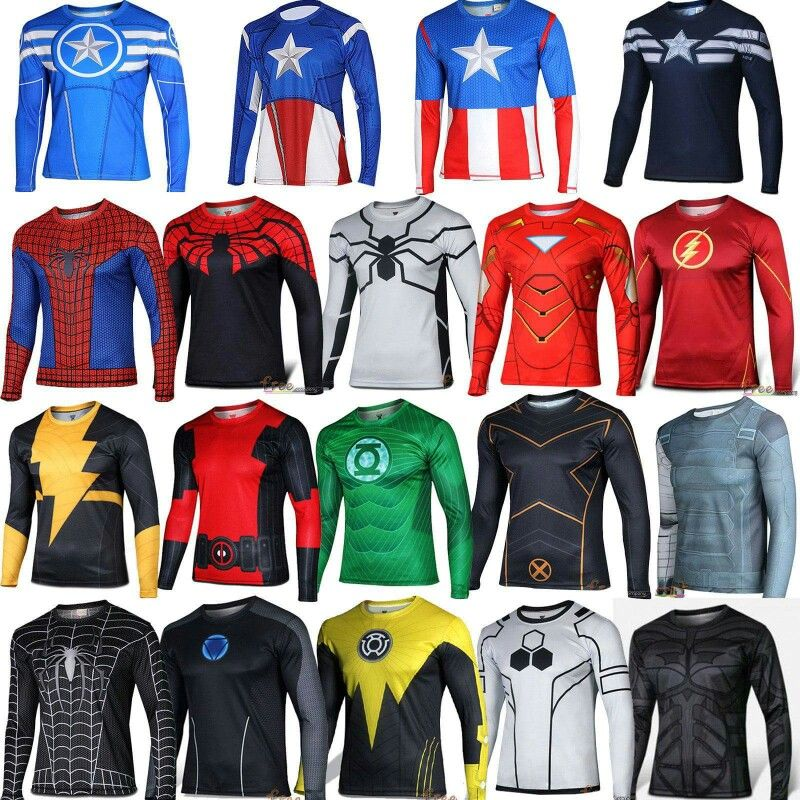 Male Long Sleeve T-shirt The Winter Soldier Marvel Captain America Fitted  Tops. Superhero workout shirts. 3f17f4ce6