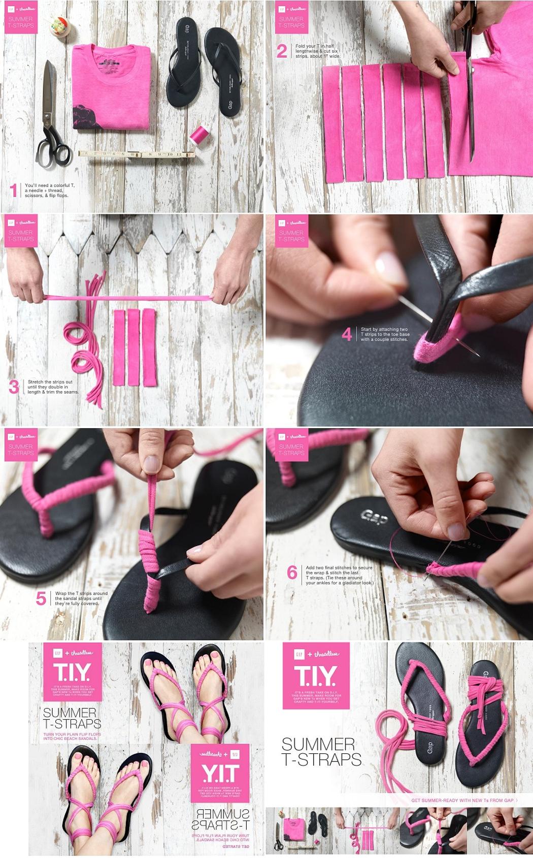diy tutorial flip flops diy gap flip flops makeover. Black Bedroom Furniture Sets. Home Design Ideas